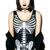 Kill Star Skeletor Bodysuit Black