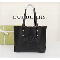 BURBERRY WOMEN'S LEATHER HANDBAG TOTE BAG