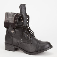 Soda Oralee Womens Boots Black/White  In Sizes