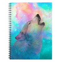 Breathing Dreams Like Air (Wolf Howl) Notebook