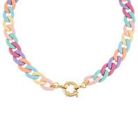 Pastel Colored Chain Link Toggle Choker