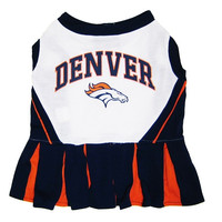 Denver Broncos NFL Dog Cheerleader Outfit - Extra Small