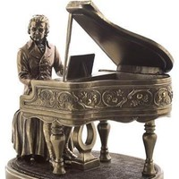 Mozart Music Composer Statue, Bronze Finish Statue