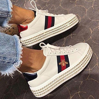 keniii  Givenchy  YSL  DIOR  LV  GG Men's and women's ACE SNEAKER WITH CRYSTALS