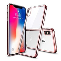 Ultra Thin Clear Plating  Phone Cases for iPhone X 7 7 Plus 8 8 Plus