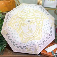 Versace Fashion New Human Head Print Sun Protection Umbrella