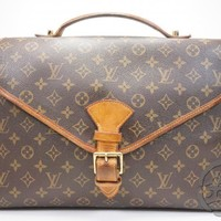 AUTH PRE-OWNED LOUIS VUITTON MONOGRAM BEVERLY BRIEFCASE HAND BAG M51121 171505