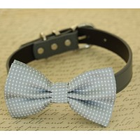 Gray Dog bow tie attached to collar, dog birthday, pet wedding