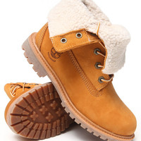 DrJays.com - Detailed Images of Timberland Authentics Teddy Fleece Waterproof Fold down Boots by Timberland