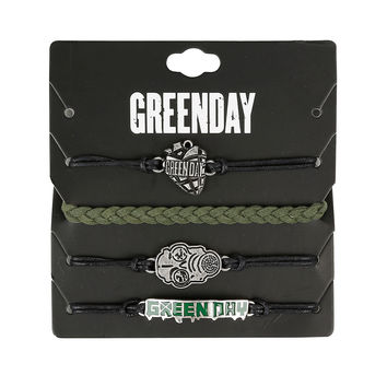 Green Day American Idiot Cord Bracelet Set