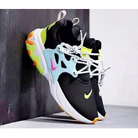 NIKE Presto React New fashion hook sports shoes Black