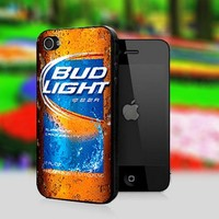 Bud Light Beer - Print On Hard Cover For iPhone 4,4S