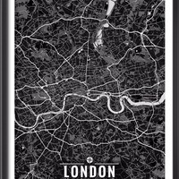 London England Map with Coordinates