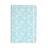 "Jacqueline Milton ""Vine Shadow - Aqua"" Blue Floral Everything Notebook"