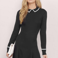Kaelyn Piping Skater Dress $46