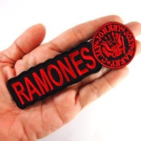 Ramones hardcore heavy metal punk rock band Embroidered Iron On Patches # WITH FREE GIFT