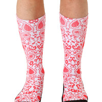 Red Bandana Sport Socks