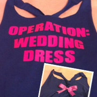 OPERATION WEDDING DRESS Work-out Racerback Tank Top