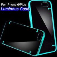 6S/6+ Luminous Lights Clear Transparent Phone Cases For Apple iphone 6 6S 4.7 / Plus 5.5 Accessories Soft TPU Protective Cover