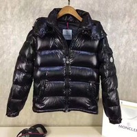 Moncler  black Men's Fashion Down Jacket Cardigan Coat new discount