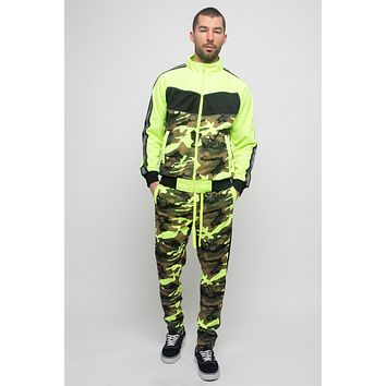 Reflecting Neon Camo Tracksuit