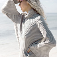 New  winter high-collar long sleeve pullover knitted sweater pull femme loose sweater women jumper oversized sweater
