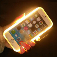 2016 New Portable Charger Case Selfie Luminous Case Rechargeable Case for iPhone 6 6s 6Plus 6s 7s 7Plus Cases