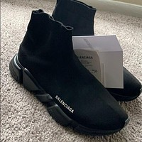 Balenciaga hot sale knitted high socks shoes men and women casual sports shoes