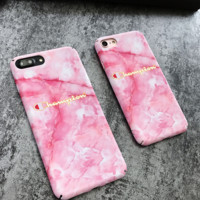 PINK  Champion Marble Case for iPhone