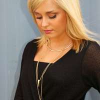 Good Girl Necklace: Turquoise/Gold - One