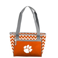 Logo Chair Clemson Tigers 16-Can Chevron Cooler Tote