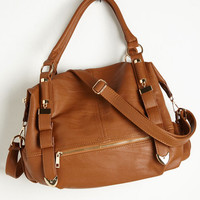 Boho Every Day, Everywhere Bag in Cognac by ModCloth