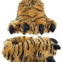 Fun Tiger Paw Animal Claw Fuzzy Faux Fur Warm Novelty Slippers