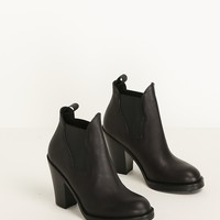 Totokaelo - Acne Studios Black Star Ankle Boot - $550.00