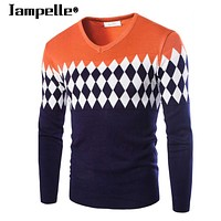 Jampelle brand Men Thick Warm Cashmere Winter Sweaters pullovers O Neck Slim Fit Men Sweater Pullover Knitwear Outwear Clothing