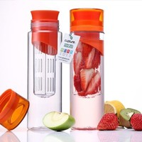 Amazon.com: Cupture Pack of 2 Fruit Infuser Water Bottle