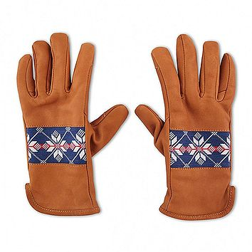 Snowflake Needlepoint Gloves by Smathers & Branson