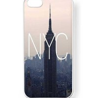 Case Cartel® NYC New York City Phone Case for iPhone 5 / 5S - Retail Packaging (White)