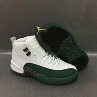 Air Jordan 12 Retro AJ12 Green/White Men Basketball Shoes US7-13