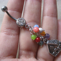 Up House Belly Button Ring Balloon Navel Piercing Bar Barbell Disney Pixar Movie Jewelry