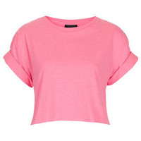 Roll Back Crop Tee - Bralets & Cropped Tops - Jersey Tops  - Clothing