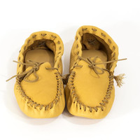 Handmade Moccasins Slippers Deerskin Leather Loafers Men's Size 10