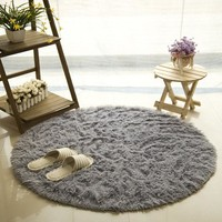 Fluffy Round Mat for Living Room
