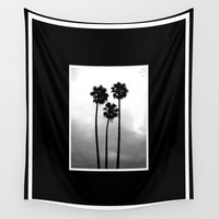 California Palm Trees Wall Tapestry by Derek Delacroix