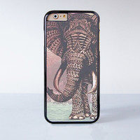 Elephant Mandala Plastic Case Cover for Apple iPhone 4 4s 5 5s 5c 6 6s Plus