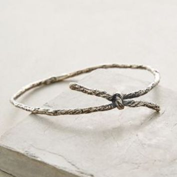 Carrie K. Knotted Memento Bangle in Silver Size: One Size Bracelets