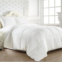 Super Soft White Goose Down Alternative Comforter (Duvet Cover Insert) King Size -63 Ounce Filled for Cooler Climates:Amazon:Home & Kitchen