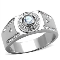 Mens Fashion Rings TK1819 Stainless Steel Ring with AAA Grade CZ