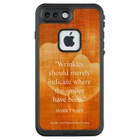 Mark Twain Birthday Quote With Hearts LifeProof FRĒ iPhone 7 Plus Case