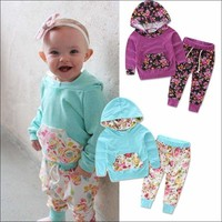 Floral Baby Girls Clothes Set